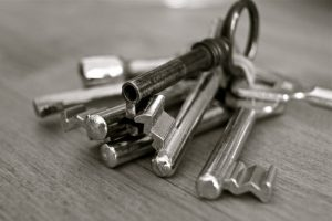 2-black-and-white-image-of-keys-on-table